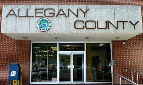 The facade of the Allegany County building.
